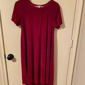 """LuLaRoe red """"velvet"""" Carly dress - S"""